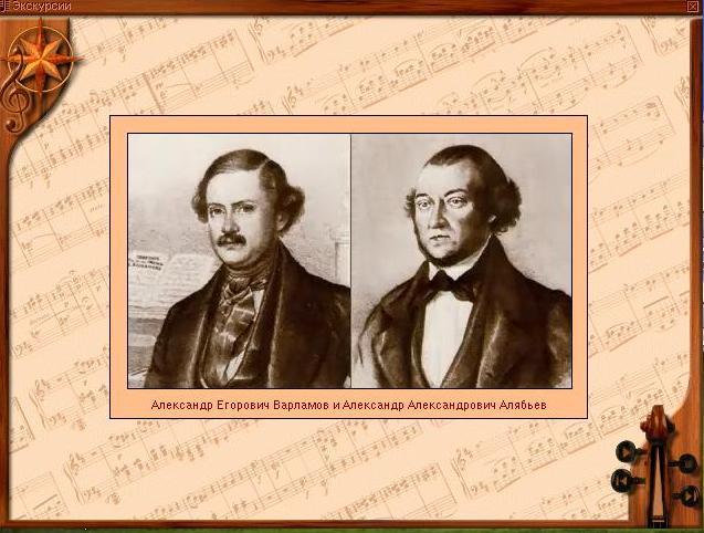 Александр Егорович Варламов и Александр Александрович Алябьев
