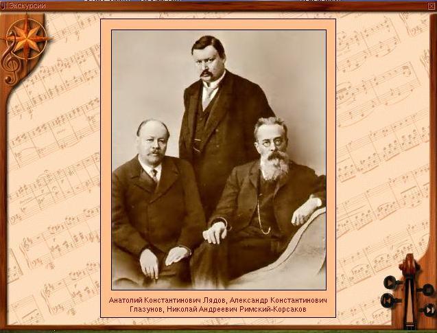 Анатолий Константинович Лядов, Александр Константинович Глазунов, Николай Андреевич