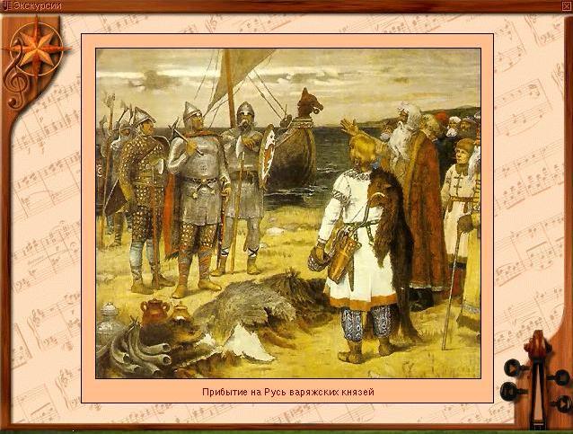 Прибытие на Русь варяжских князей